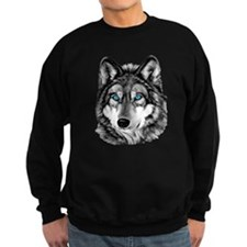 Painted Wolf Grayscale Sweatshirt