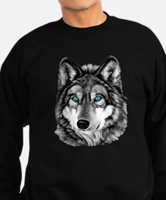 Painted Wolf Grayscale Sweatshirt (dark)