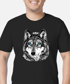 Painted Wolf Grayscale T