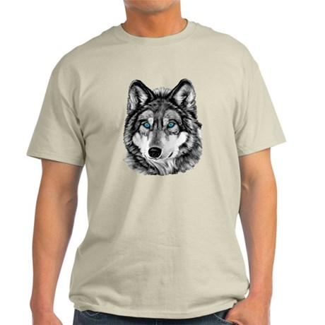 Painted Wolf Grayscale Light T-Shirt