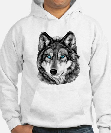 Painted Wolf Grayscale Jumper Hoody
