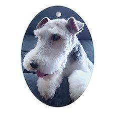 Wire Fox Terrier Keepsake Oval Ornament