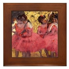 Dancers in Pink Framed Tile