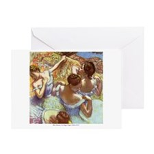 Blue Dancers Greeting Card