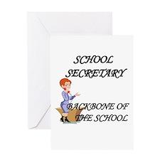 School secretary day Greeting Card
