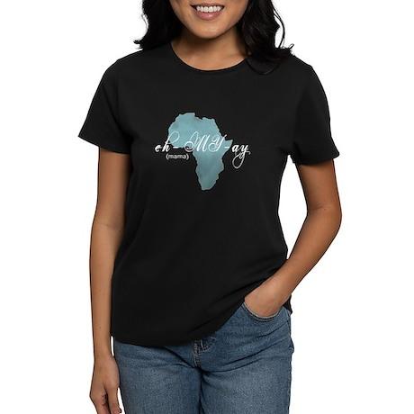 Amharic Mama (blue) Women's Dark T-Shirt