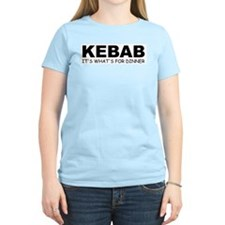 KEBAB: It's What's For Dinner Women's Pink T-Shirt