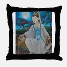 Cute Kuan yin Throw Pillow