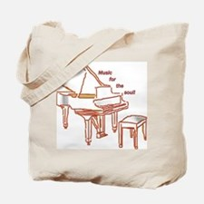 Music for the Soul (red piano) Tote Bag