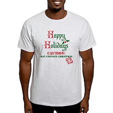 Caution: May Contain Christmas - Ash Grey T-Shirt