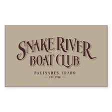 Boat Club Rectangle Decal