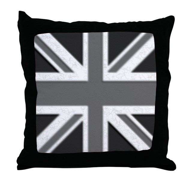 Black And White Union Jack Pillow By Unionjack Rbut