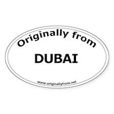 Dubai Oval Decal