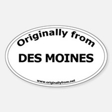 Des Moines Oval Decal