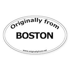 Boston Oval Decal