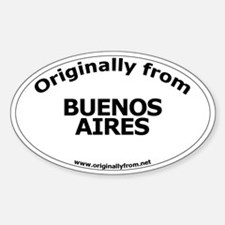 Buenos Aires Oval Decal