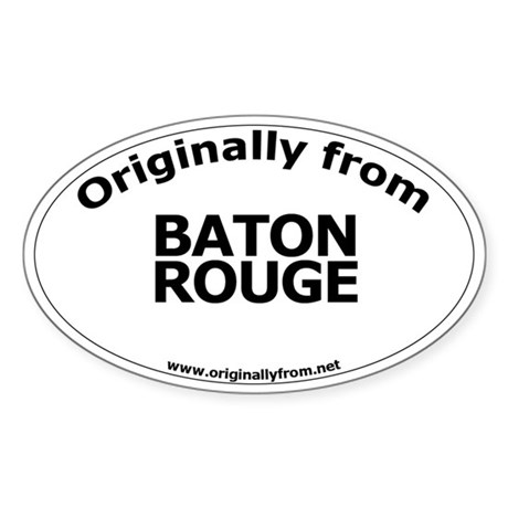 Baton Rouge Oval Sticker