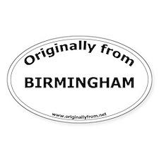 Birmingham Oval Decal