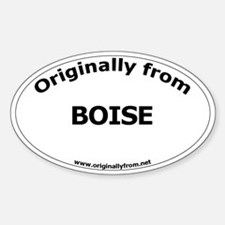 Boise Oval Decal
