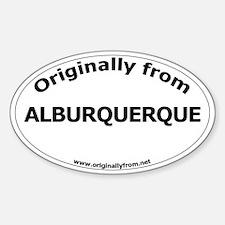 Albuquerque Oval Decal