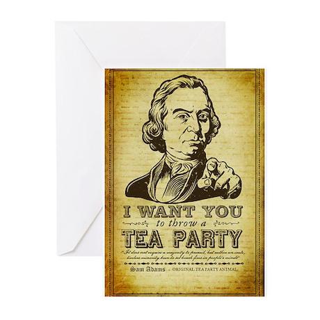 Sam Adams Tea Party Greeting Cards (Pk of 20)