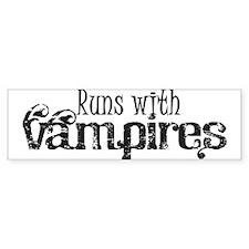 Runs With Vampires Bumper Sticker (10 pk)