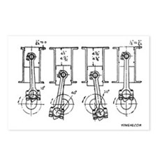 4 Pistons - On a Postcards (Package of 8)