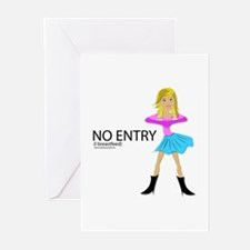 No Entry, I breastfeed Greeting Cards (Package of