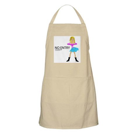 No Entry, I breastfeed BBQ Apron