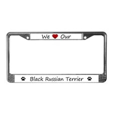 We Love Our Black Russian Terrier Frame