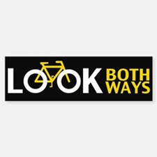 Look Both Ways Bumper Car Car Sticker
