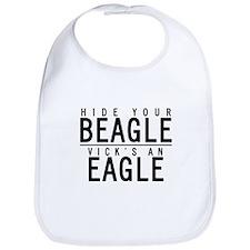 Cute Hide your beagle Bib