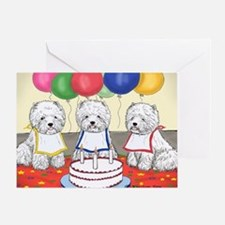 Birthday Party Westies Greeting Card