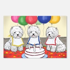 Birthday Party Westies Postcards (Package of 8)