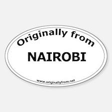 Nairobi Oval Decal
