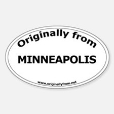 Minneapolis Oval Decal