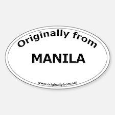 Manila Oval Decal