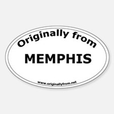 Memphis Oval Decal