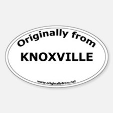 Knoxville Oval Decal