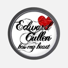 Edward Cullen Has My Heart Wall Clock