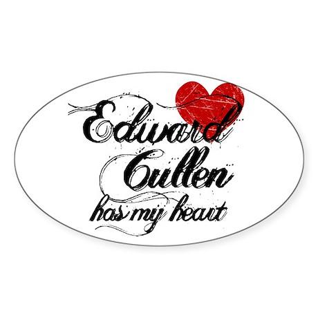 Edward Cullen Has My Heart Oval Sticker (50 pk)