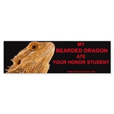 bearded dragon head Bumper Bumper Sticker