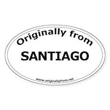 Santiago Oval Decal