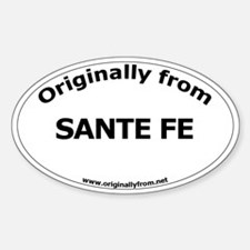 Sante Fe Oval Decal