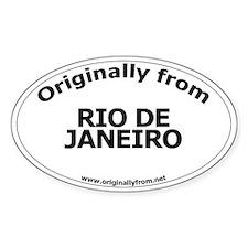 Rio de Janeiro Oval Decal