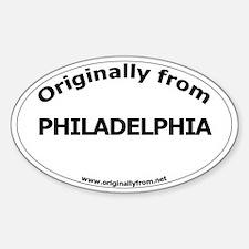 Philadelphia Oval Decal