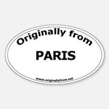 Paris Oval Decal