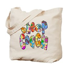 Patterned Cheer Coach Tote Bag