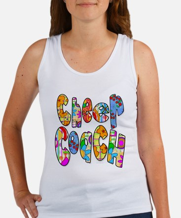 Patterned Cheer Coach Women's Tank Top