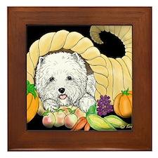 Thanksgiving Westie Framed Tile